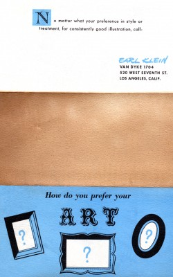 Artist Services Flyer