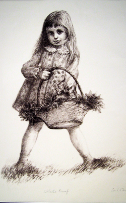 Little Girl & Flower Basket